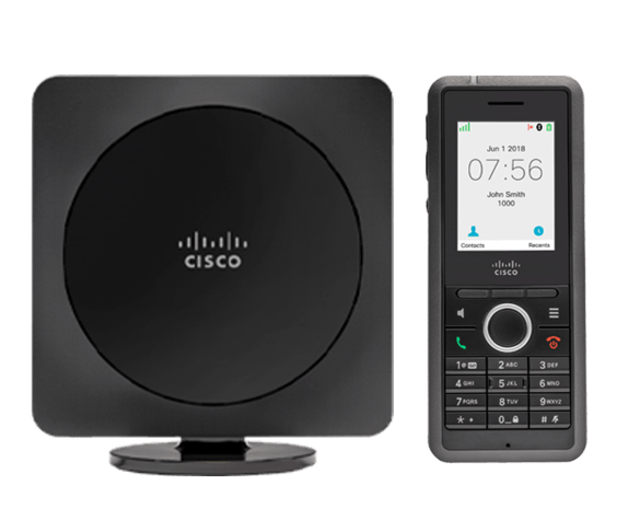 Cisco IP DECT Phone Bundle, Cisco IP DECT 6825 Handset Color Disply and Multi-Cell Basestation with power adapters