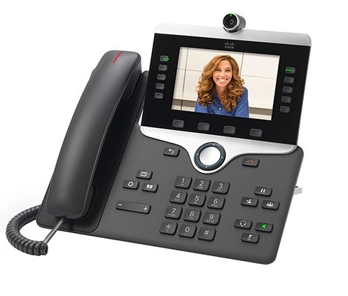 Cisco IP Video Phone 8865 POE, Gigabit PC Port, 10 Line SIP, Color Display, WiFi, Bluetooth with Multiplatform Firmware