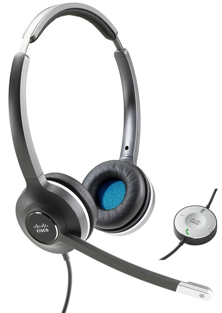 Cisco 532 wired dual earpiece Headset with USB-A Headset Adapter