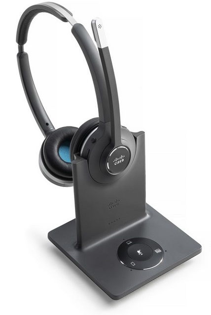 Cisco 562 wireless dual earpiece Headset with Multibase Station