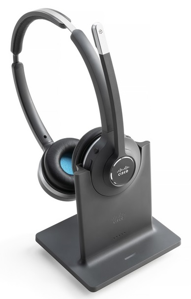 Cisco 562 wireless dual earpiece Headset with Standard Base Station
