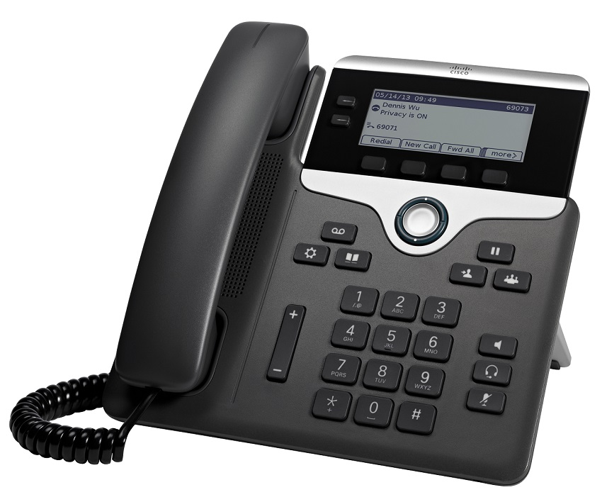 Cisco IP Phone 7821 POE, PC Port, 2 Line SIP with Multiplatform Phone firmware