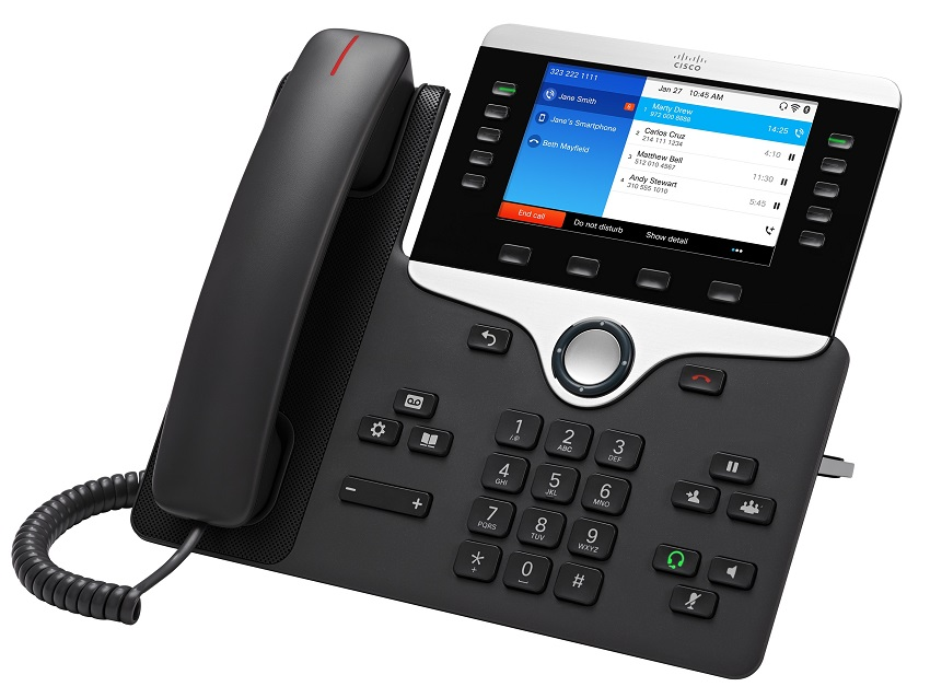 Cisco IP Phone 8861 POE, Gigabit PC Port, 10 Line SIP, Color Display, WiFi, Bluetooth with Multiplatform Firmware