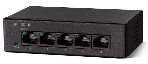 Cisco SF110D-05 5-Port 10/100 Desktop Switch