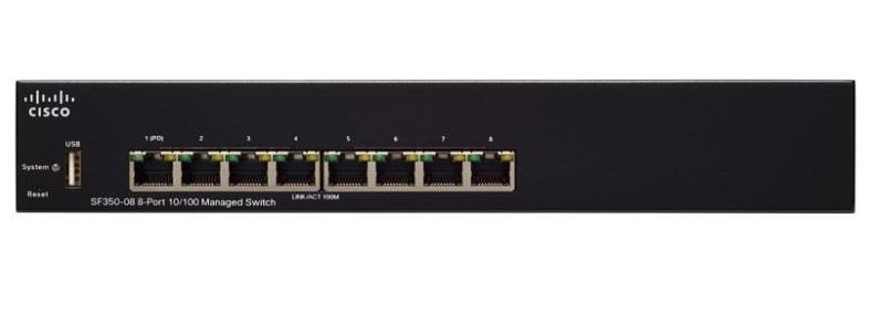 Cisco SF350-08 8-port 10/100 Managed Switch
