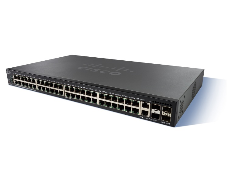 Cisco SG350X-48MP 48-port Gigabit POE Stackable Switch
