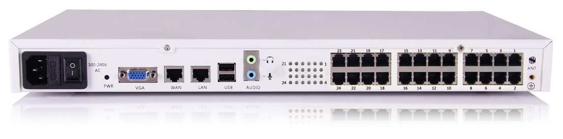 Zycoo U60 V3 with 8 FXO default module IP PBX system
