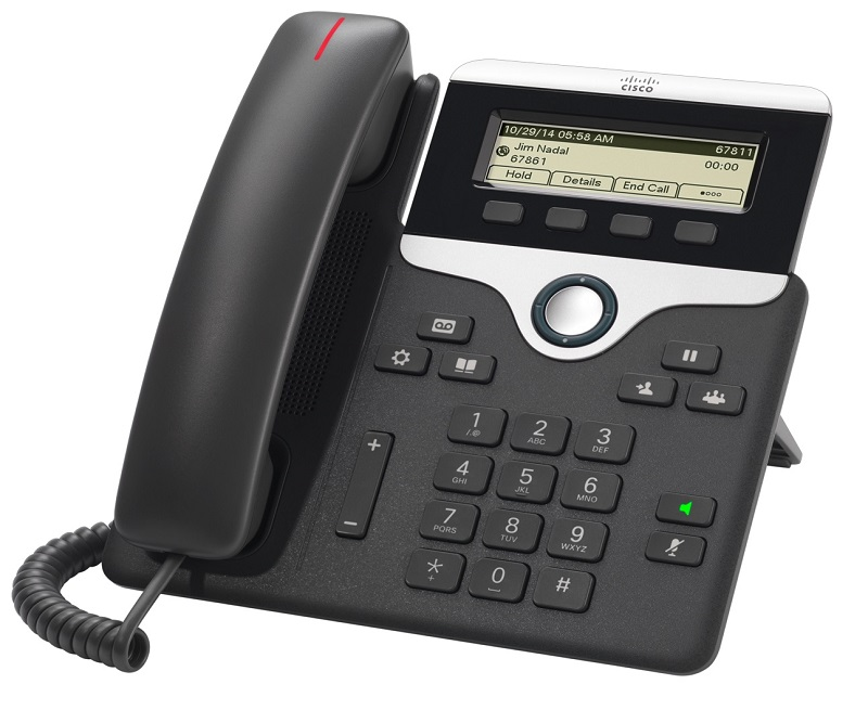 Cisco IP Phone 7811 POE, PC Port, 1 Line SIP with Multiplatform Phone firmware