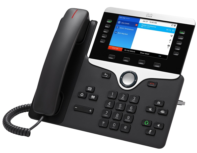 Cisco IP Phone 8851 POE, Gigabit PC Port, 10 Line SIP, Color Display, Bluetooth with Multiplatform Firmware